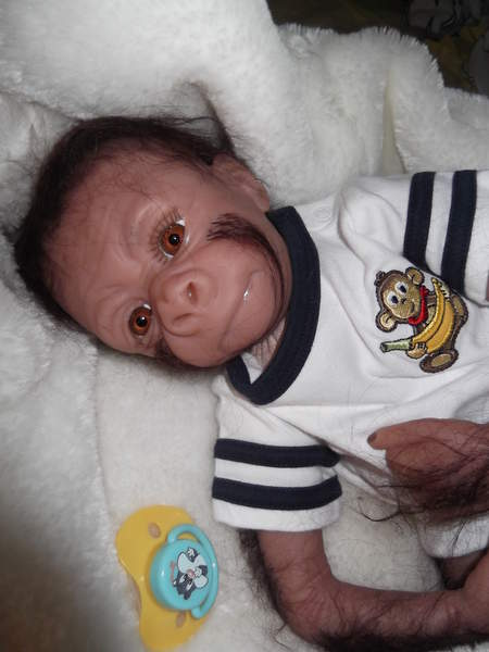 Baby Monkey Bongo By Bakers Reborn Babies Reborns Com