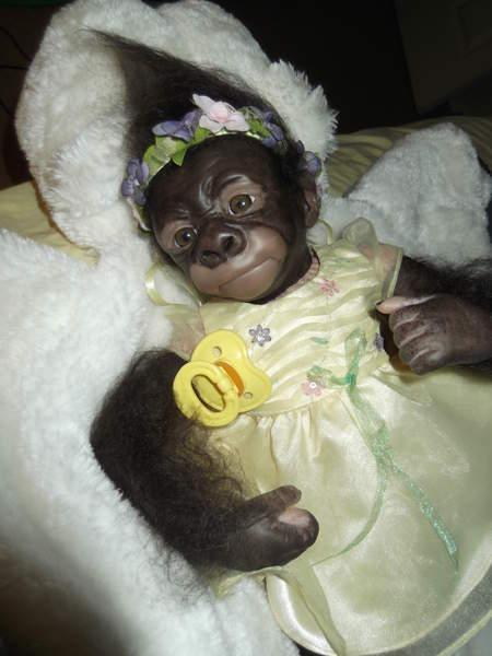 Baby Monkey Bindi By Bakers Reborn Babies Reborns Com
