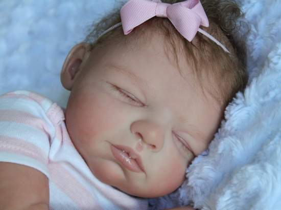 Reborn Doll Baby Girl Sleeping Newborn By Sabine