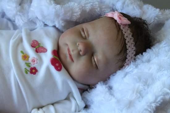 Reborn Newborn Baby Girl Doll Heather By Donna Rubert