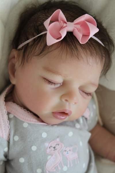 Reborn Newborn Baby Girl Doll Eleonora Asleep By Sabine