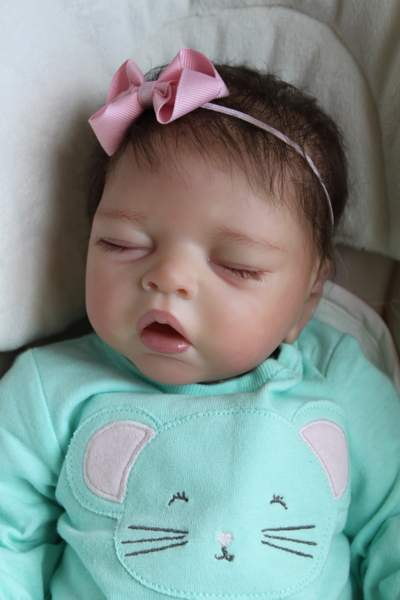 reborn newborn baby girl doll eleonora asleep by sabine