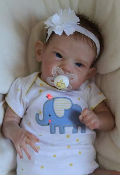 Reborn Newborn Baby Girl Doll From Sally Kit By Bonnie