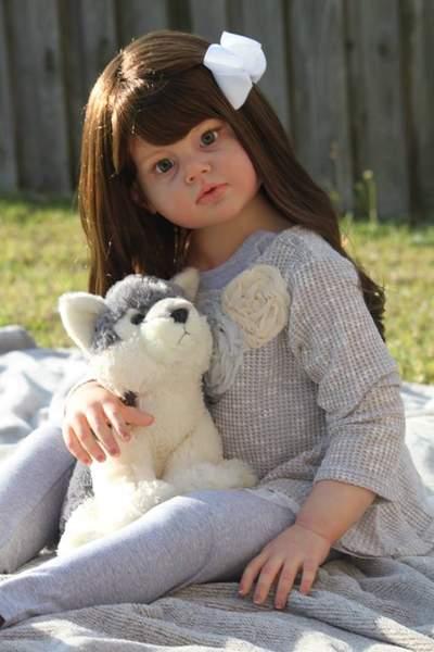Custom Reborn Toddler Child Doll Angelica By Summerfield