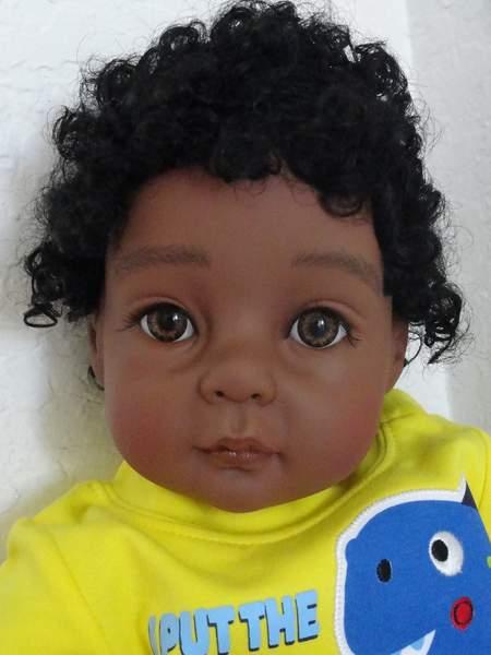 Reborn African American Toddler Boy Marquelle By Susanne